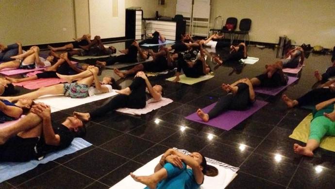Aulão de Yoga (Foto: Samira Lima)