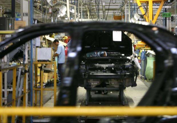 Produção de veículos da montadora francesa Renault (Foto: Divulgação)