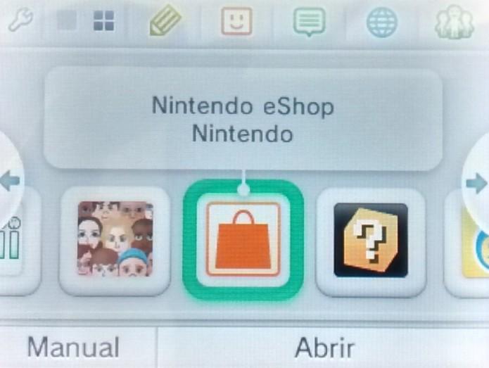 Acesse a Nintendo eShop (Foto: Paulo Vasconcellos)