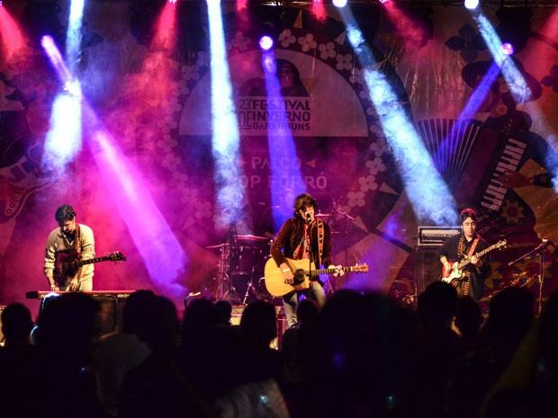 """Banda Tagore mostrou as músicas do mais novo disco, """"Movido à vapor"""" (Foto: Luna Markman / G1)"""