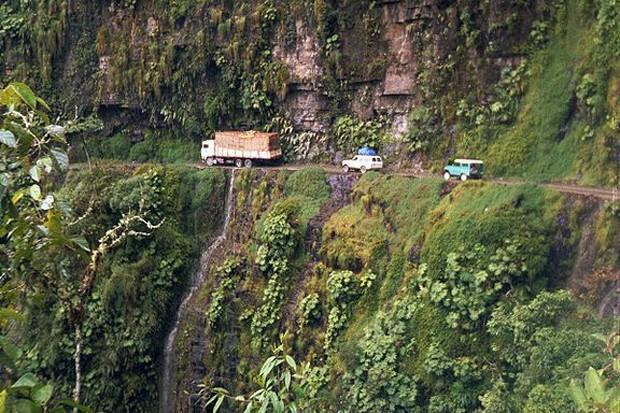 """El Camino De La Muerte"", na Bolívia (Foto: Wikimedia Commons)"