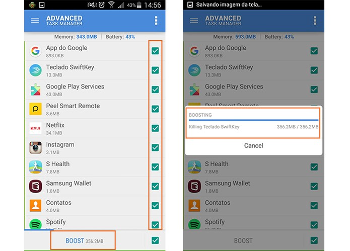 Encerre os aplicativos no Android para poupar energia e memória (Foto: Reprodução/Barbara Mannara)