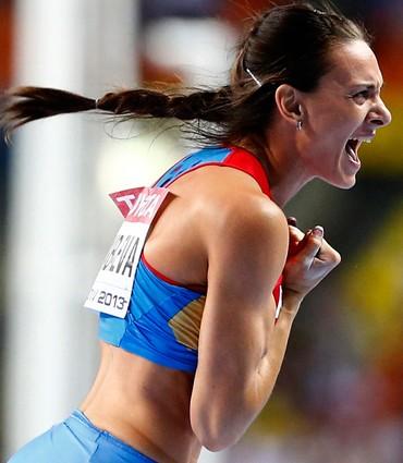 Elena Isinbayeva salto com vara mundial de atletismo (Foto: Agência Reuters)