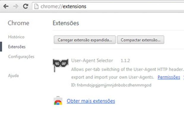 Lista de de extensões do Chrome. Desmarque a opção Ativar em itens suspeitos. (Foto: Reprodução)