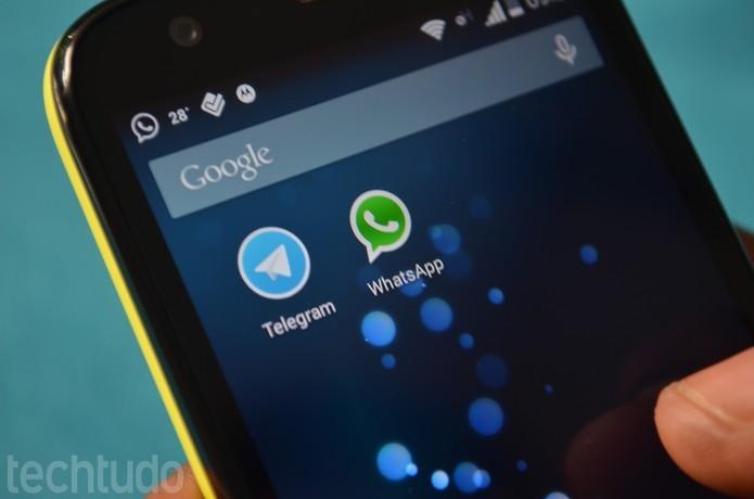 Telegram é um dos rivais do WhatsApp que mais cresce em número de usuários (Foto: TechTudo/Anna Kellen Bull) (Foto: Telegram é um dos rivais do WhatsApp que mais cresce em número de usuários (Foto: TechTudo/Anna Kellen Bull))