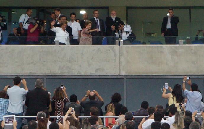 Dilma Rousseff participa de inauguração da Arena das Dunas (Foto: Augusto Gomes/GloboEsporte.com)