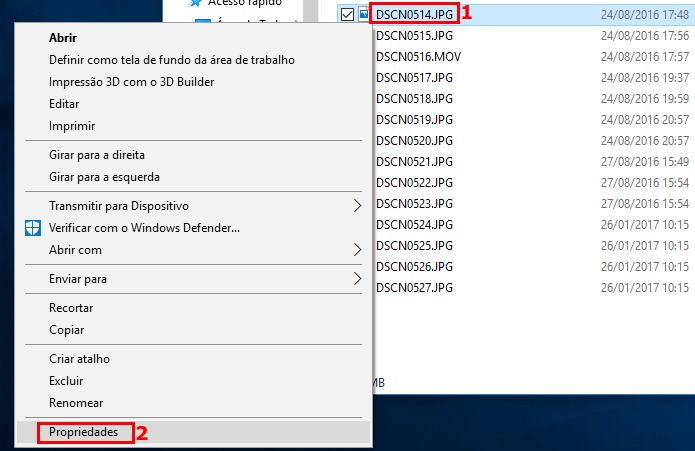 Acessando as propriedades de arquivos de fotos no Windows (Foto: Reprodução/Edivaldo Brito)