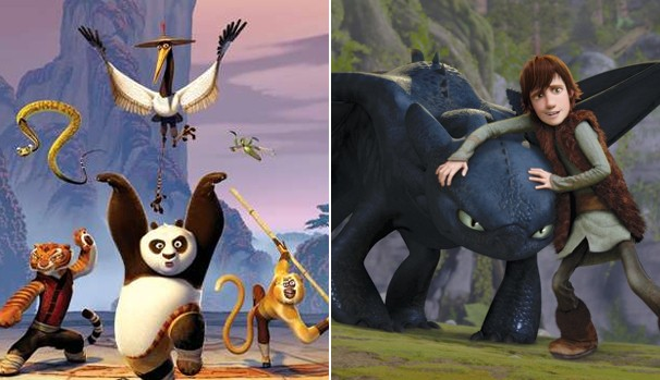 """TV Globinho desse sábado exibe """"Kung Fu Panda"""" e """"Como Treinar o Seu Dragão"""" (Foto: Divulgação/Reprodução)"""