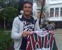 Javier Zanetti visita Laranjeiras e ganha até camisa do Fluminense