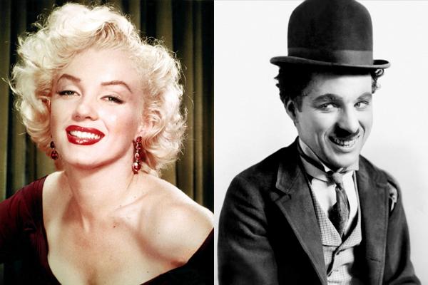 Marilyn Monroe e Charlie Chaplin (Foto: Divulgação)