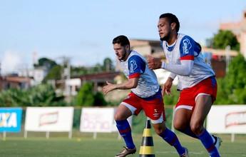 De volta dos EUA, elenco do Bahia tem tarde de treino físico e técnico
