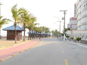 Avenida Mário Covas Jr., em Mongaguá (Foto: Divulgação/Prefeitura de Mongaguá)