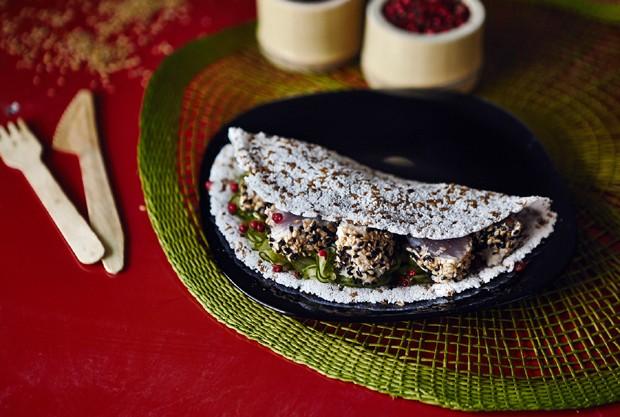 Tapioca com atum selado da Casa Maní (Foto: Divulgação)