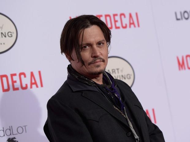 Johnny Depp em première de filme em Los Angeles, nos Estados Unidos (Foto: Jason Kempin/ Getty Images/ AFP)