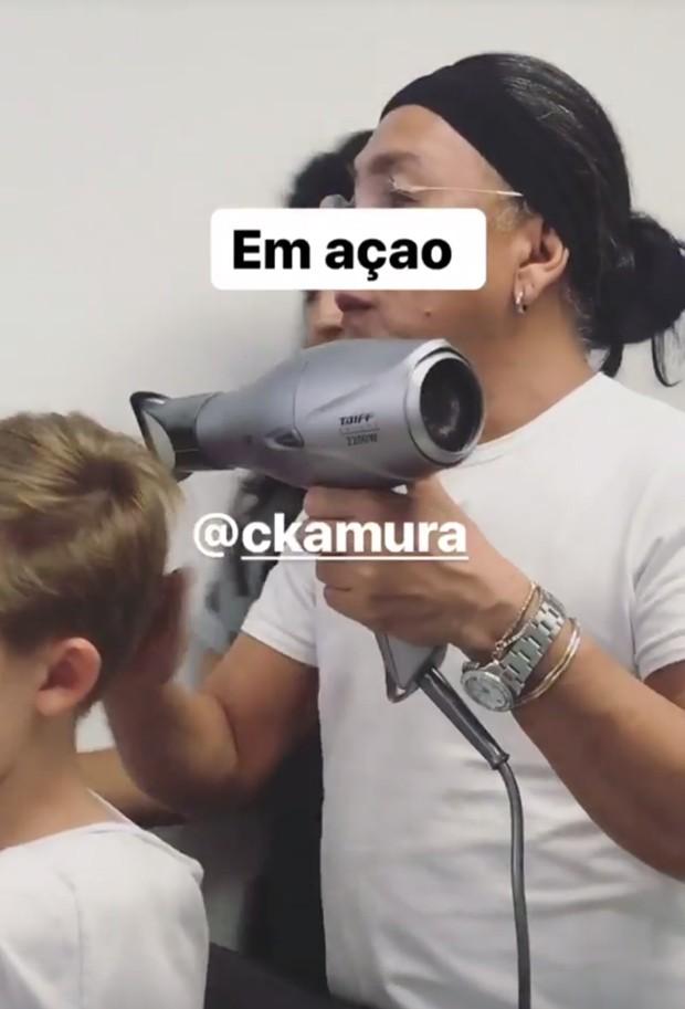 Celso Kamura e Joaquim (Foto: Reprodução/Instagram)