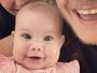Thais Fersoza posta foto em família e comemora 'mêsversário' de Melinda