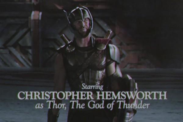 Uma cena da versão de Thor com visual dos anos 80 (Foto: Reprodução)