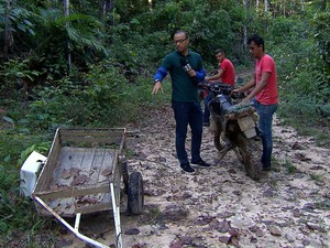 PREP -  O repórter Guilherme Belarmino foi até Colniza, no Mato Grosso, onde uma chacina vitimou 9 lavradores  (Foto: TV Globo)