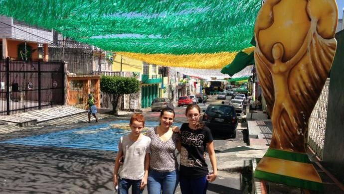 Rua Leonardo Malcher, em Manaus, tem decoração de R$ 80 mil (Foto: Bruno Willemon)