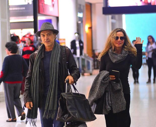 Bruna Lombardi e Carlo Alberto Riccelli (Foto: William Oda / AgNews)