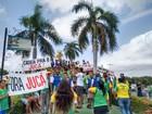 Manifestantes fazem ato contra Temer e Jucá no Centro de Boa Vista