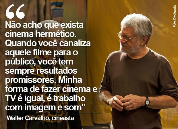 """Walter Carvalho, em entrevista sobre """"Um Filme sobre cinema"""" (Foto: Divulgação)"""