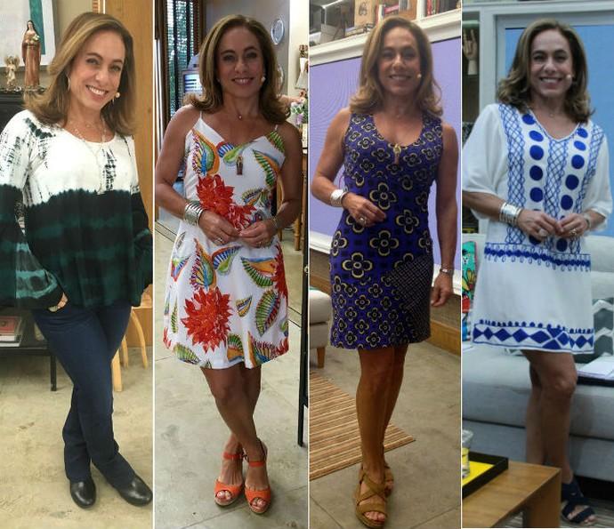 Confira alguns looks de Cissa Guimarães no É de Casa (Foto: Gshow)