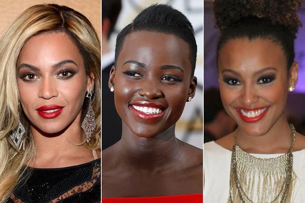 BELEZA - Beyoncé, Lupita Nyong'o e Sheron Menezzes (Foto: Getty Images | Reuters | FotoRio News)