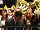 Governador de Goiás, Marconi Perillo, vai a velório de Cristiano Araújo
