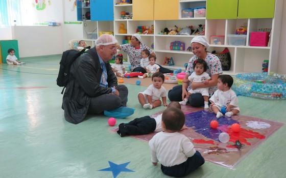 Ministro do Desenvolvimento, Osmar Terra, no Centro de Desenvolvimento Terra e Liberdade, no México (Foto: Reprodução)
