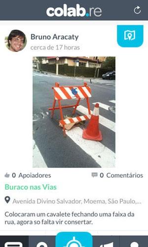 Aplicativo para iPhone e iPad, Colab começa a ser usada por prefeituras para coletar reclamações de cidadãos. (Foto: Divulgação/Apple)