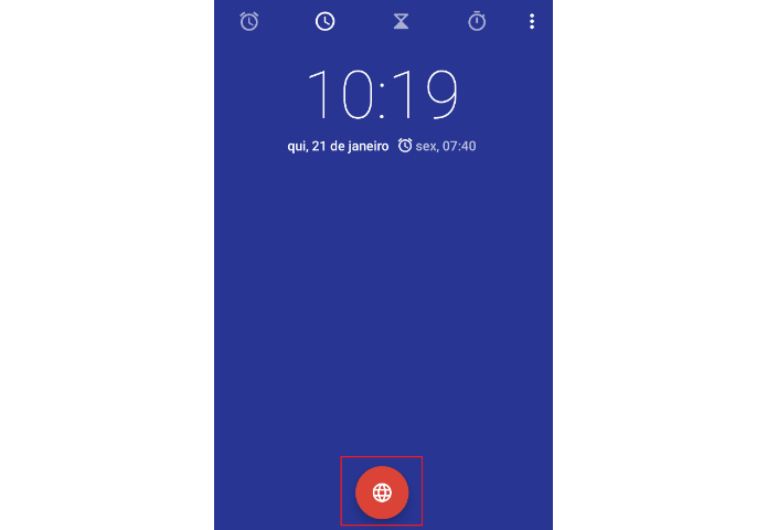 c162ef52270 Clique no ícone vermelho na parte inferior do app (Reprodução Carol Danelli)