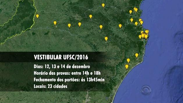 Provas serão aplicadas em 23 cidades de SC (Foto: Reprodução/RBS TV)