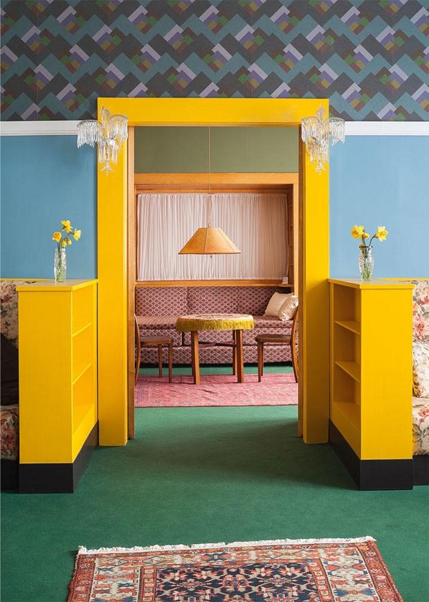 Décor do dia: sala colorida e vintage (Foto: reprodução)