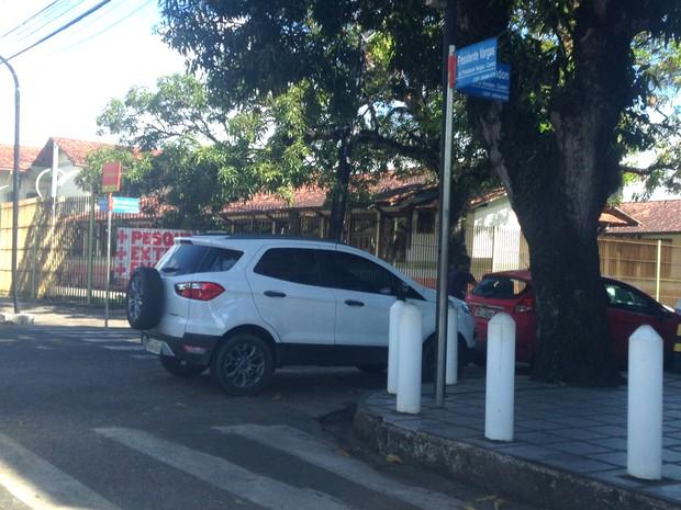 Estacionamento, Amapá, Macapá, trânsito, carro, (Foto: Ana Santos/VC no G1 AP)