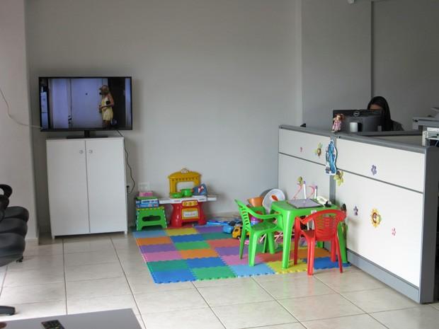 Conselho Tutelar do Lago Norte tem brinquedoteca e espaço amplo (Foto: Isabella Formiga/G1)