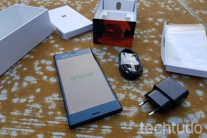 [Marca] Sony Xperia XZ 5 (Foto: Thássius Veloso/TechTudo)