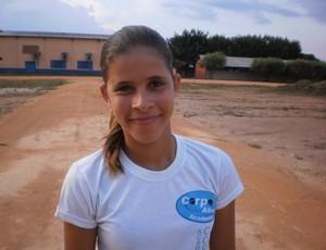 Eliane Ribeiro é promessa do atletismo em Rondônia (Foto: Fábio Matias)