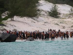 Nadadores de vários estados se reuniram na competição (Foto: Divulgação / Ascom Arraial do Cabo)