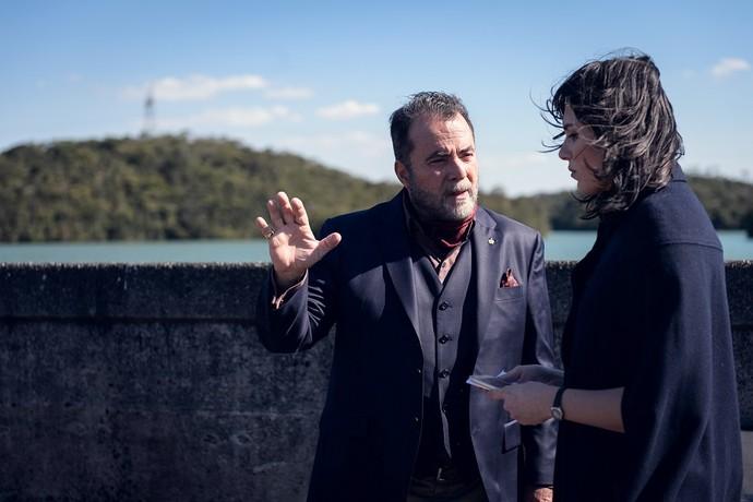 Abel e Celeste em suas primeiras cenas (Foto: Ramón Vasconcelos/TV Globo)