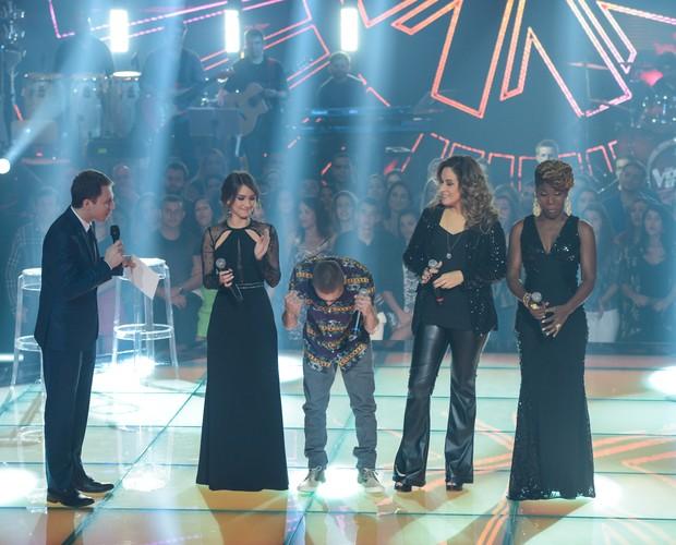 Joey Mattos é escolhido pelo público (Foto: Camila Serejo/Gshow)