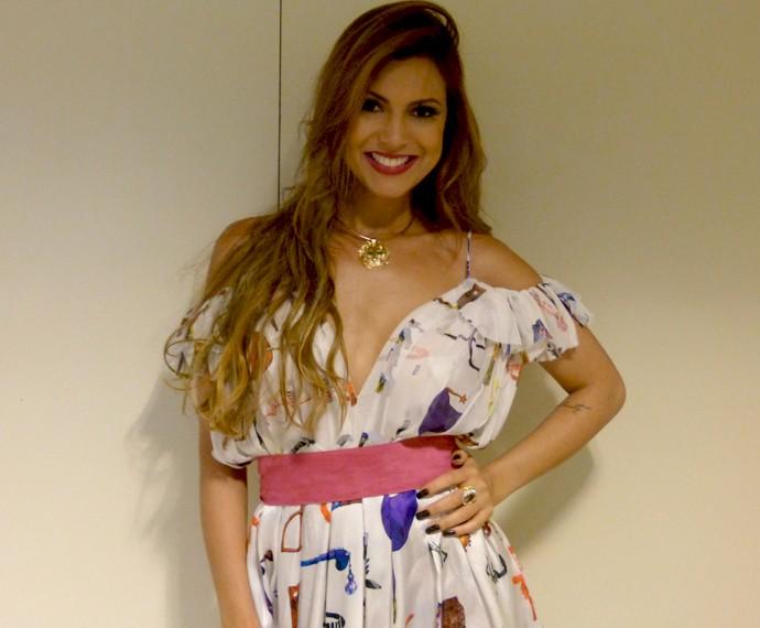 Cantora nos bastidores do Esquenta!  (Foto: Ana Puñal / Gshow)