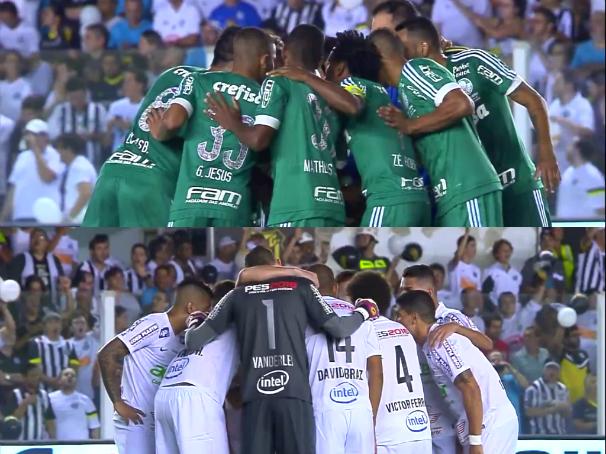 TV Tribuna trasmite o jogo ao vivo entre Palmeiras e Santos (Foto: Reprodução/TV Tribuna)