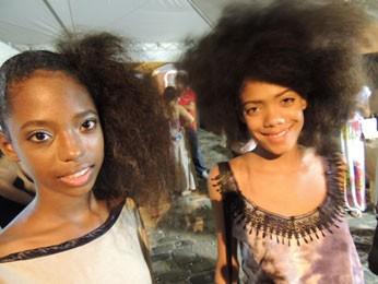 AmigasThaysa Sena [esquerda] e Antoniele Oliveira  (Foto: Luna Markman/ G1)