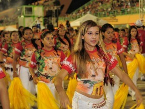 Foliões aproveitam o Carnaboi no ritmo das famosas toadas do Festival de Parintins (Foto: Alfredo Fernandes)