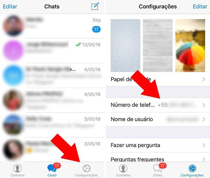 Acesse as configurações do Telegram no iPhone (Foto: Reprodução/Paulo Alves)