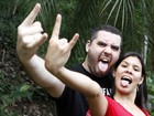 Casal supera 'história conturbada' para se casar no Rock in Rio