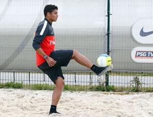 thiago silva psg Treino (Foto: Reprodução / Site Oficial do PSG)