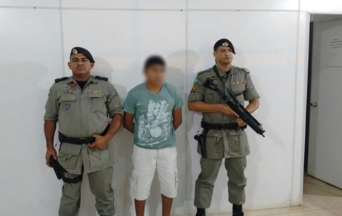 Prisão suspeito Edson Piauí (Foto: Divulgação/Polícia Militar)