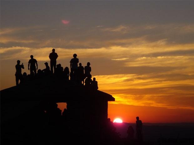 Pôr do Rock agita a galera na pirâmide (Foto: Adi Barbosa / TV Pirâmide)